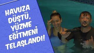Havuza Düştü, Yüzme Eğitmeni Telaşlandı! - Mustafa Karadeniz