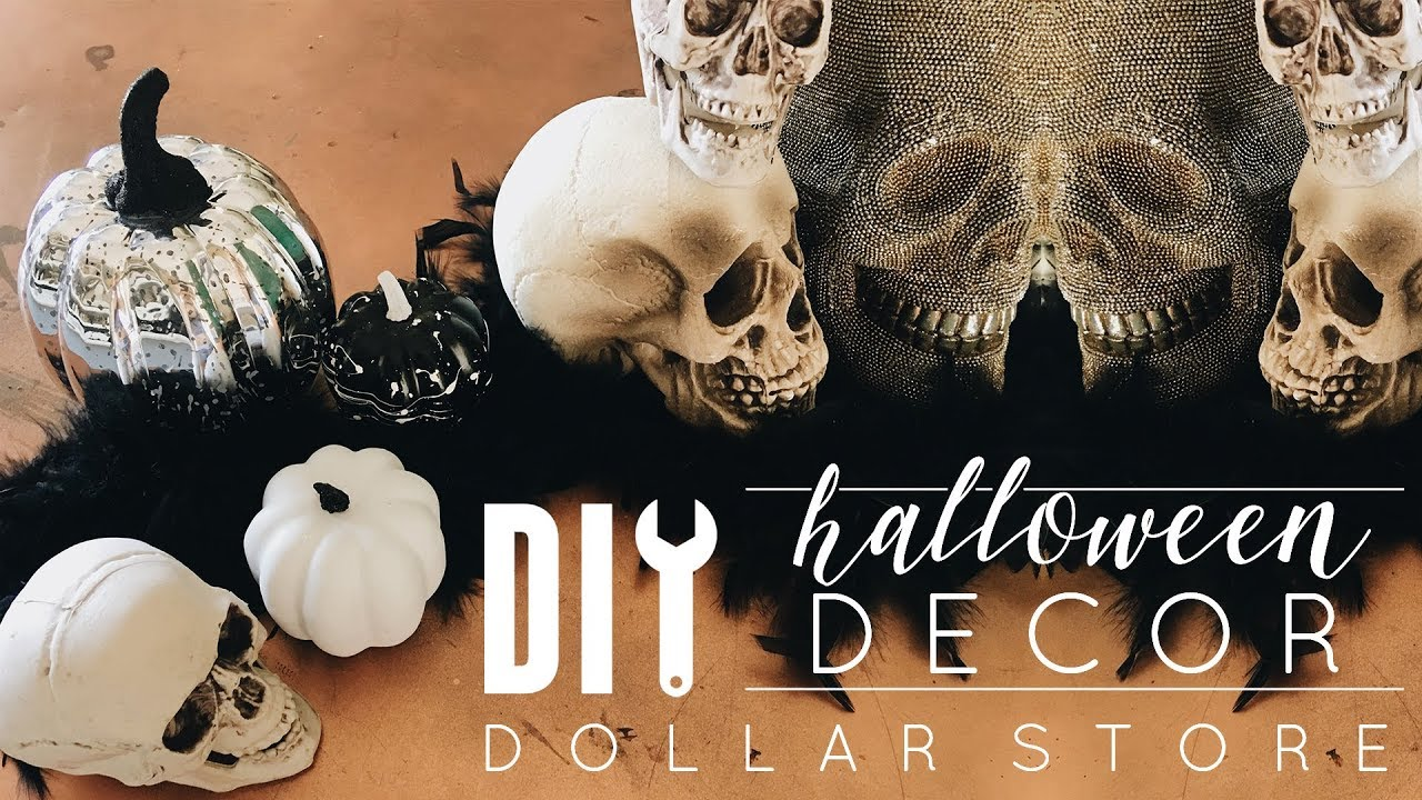 DIY Dollar Store Halloween Decor Window Display
