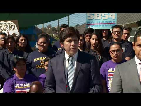 Senate Leader de León Press Conference on the California Values Act