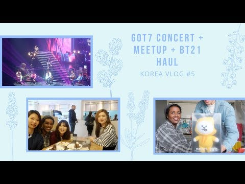 Korea Travel Diary 🇰🇷 | Vlog Pt 5: GOT7 CONCERT IN SEOUL + MEETUP + BT21 HAUL