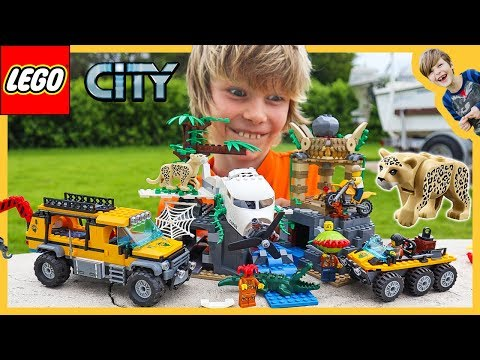 Lego City Jungle Exploration Site - JAGUAR ATTACK!