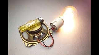 New 2019 Free Energy Generator with magnet and speaker.