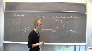 Kinematik bevægelse med konstant hastighed og konstant acceleration