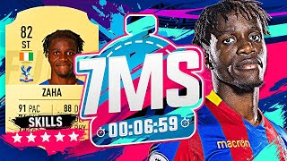 WILFRIED ZAHA!! 7 MINUTE SQUAD BUILDER VS AJ3!! - FIFA 19 ULTIMATE TEAM