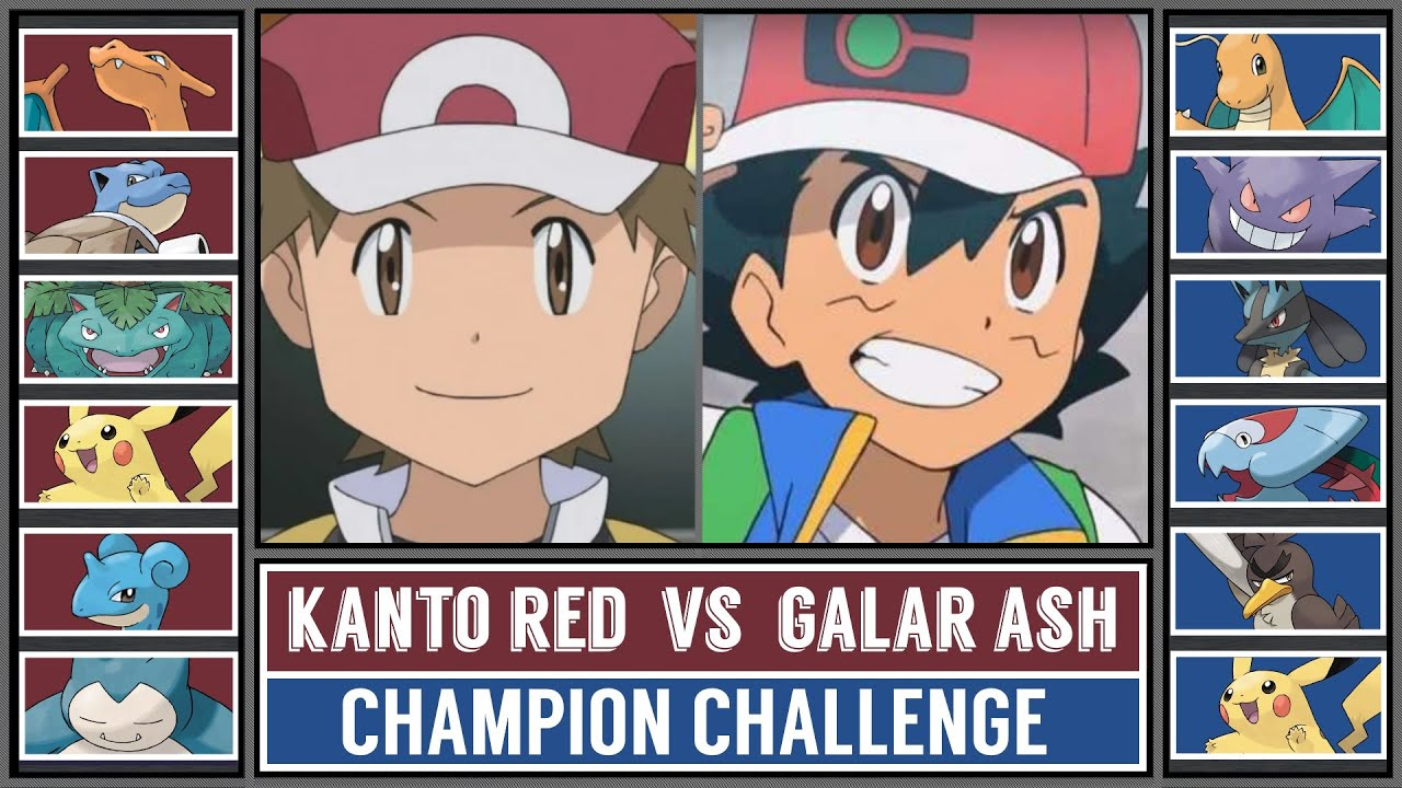 KANTO RED vs GALAR ASH