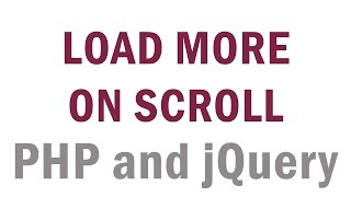 Load More Data from Database On Page Scroll (PHP/jQuery)