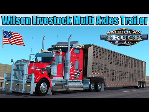 ATS Mods - Wilson Livestock Multi Axles Cattle Trailer