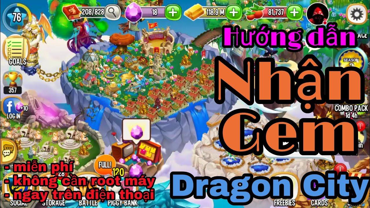 [Dragon City] Hướng dẫn nhận gem dragon city trên điện thoại   không cần root máy!!