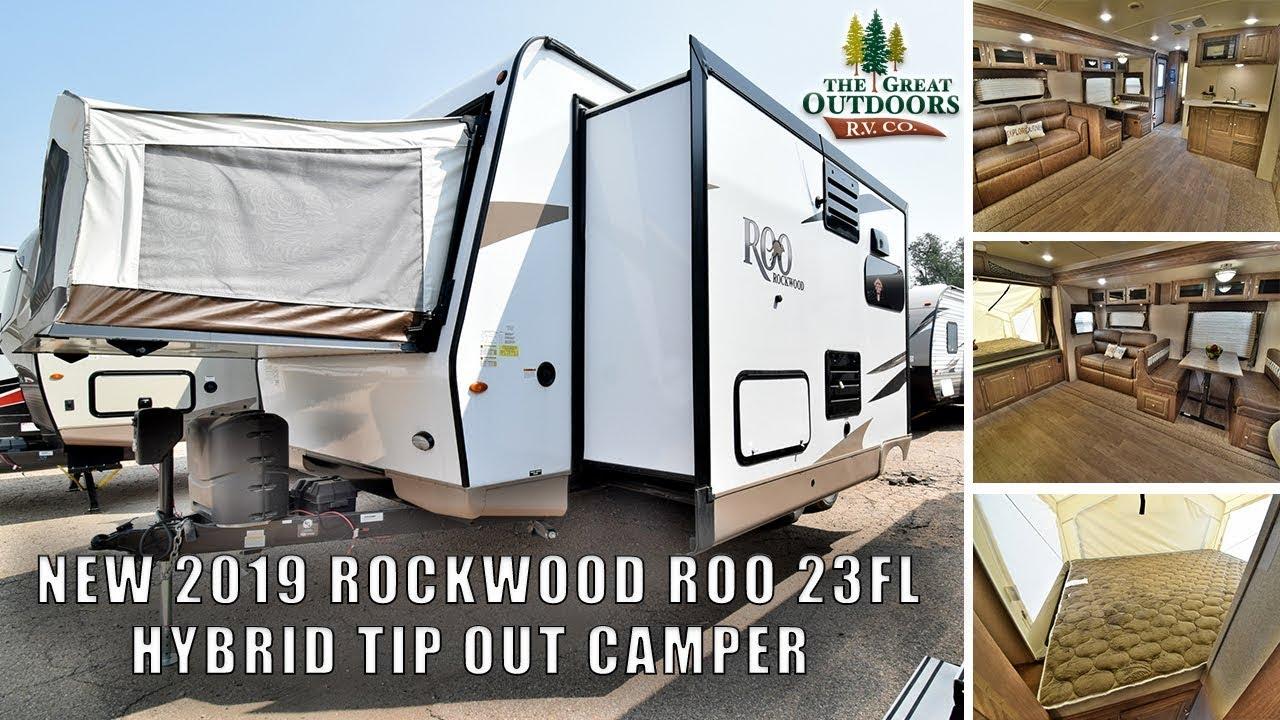 2019 Rockwood Roo 23fl Hybrid Tip Out Camper Lightweight
