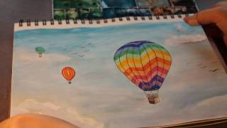 Watercolor Hot Air Balloon for beginners