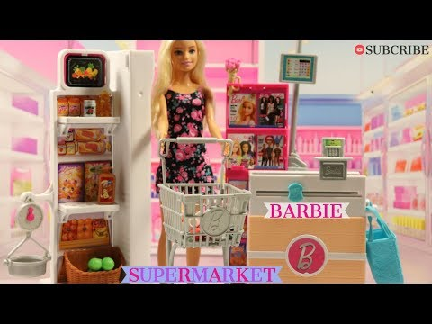 BARBIE DOLL SUPERMARKET PLAYSET UNBOXING