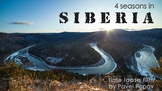 Timelapse film 4 seasons in Siberia