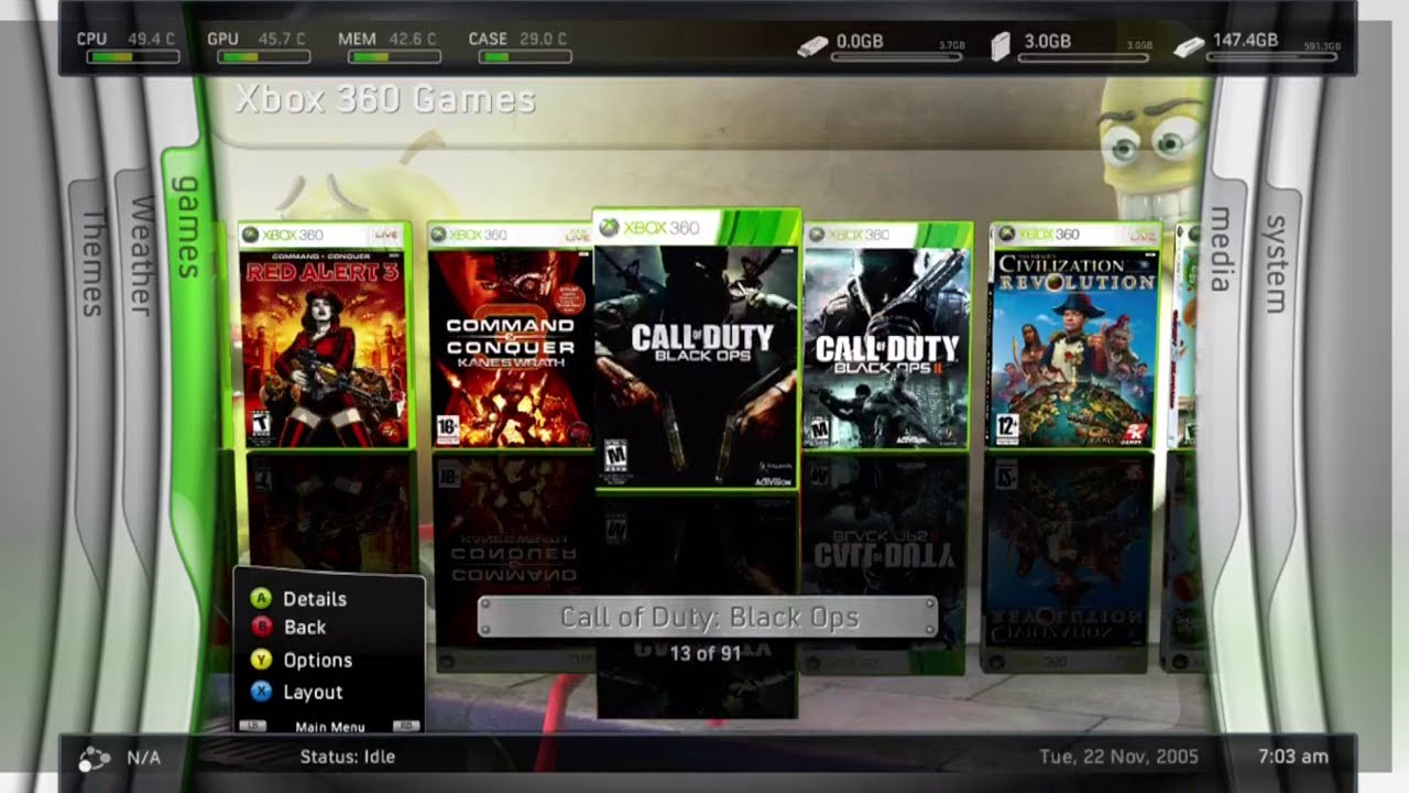 My Rgh Jtag Xbox 360 Slim With Over 180 Games F3 Youtube