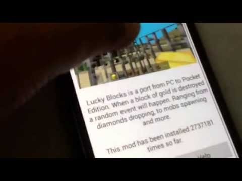 How to install lucky block mod for minecraft pe