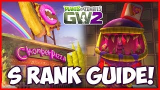 Chomper Pizza Delivery Badge: S RANK Guide + Tips! - Plants vs Zombies Garden Warfare 2