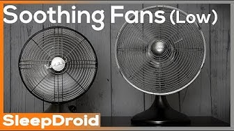 ► Soothing Fan Sounds for Sleeping ~ 10 hours of Fan White Noise Video, Binaural Effect (Low speed)