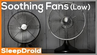 ► Soothing Fan Sounds for Sleeping ~ 10 hours of Fan White Noise , Binaural Effect (Low speed)