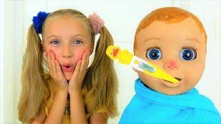 Polina y la muñeca se enfermaron.