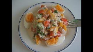 Салат с тунцом. Маринкины творинки