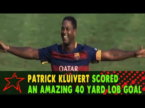 Patrick Kluivert Scored an Amazing 40 yard lob Goal