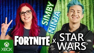 Ninja and Simby take on Stormtroopers in Fortnite X Star Wars