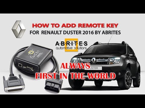 HOW TO ADD REMOTE KEY FOR RENAULT DUSTER 2016 BY ABRITES