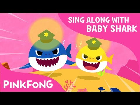Police Sharks | Sing Along with Baby Shark | Pinkfong Songs for Children