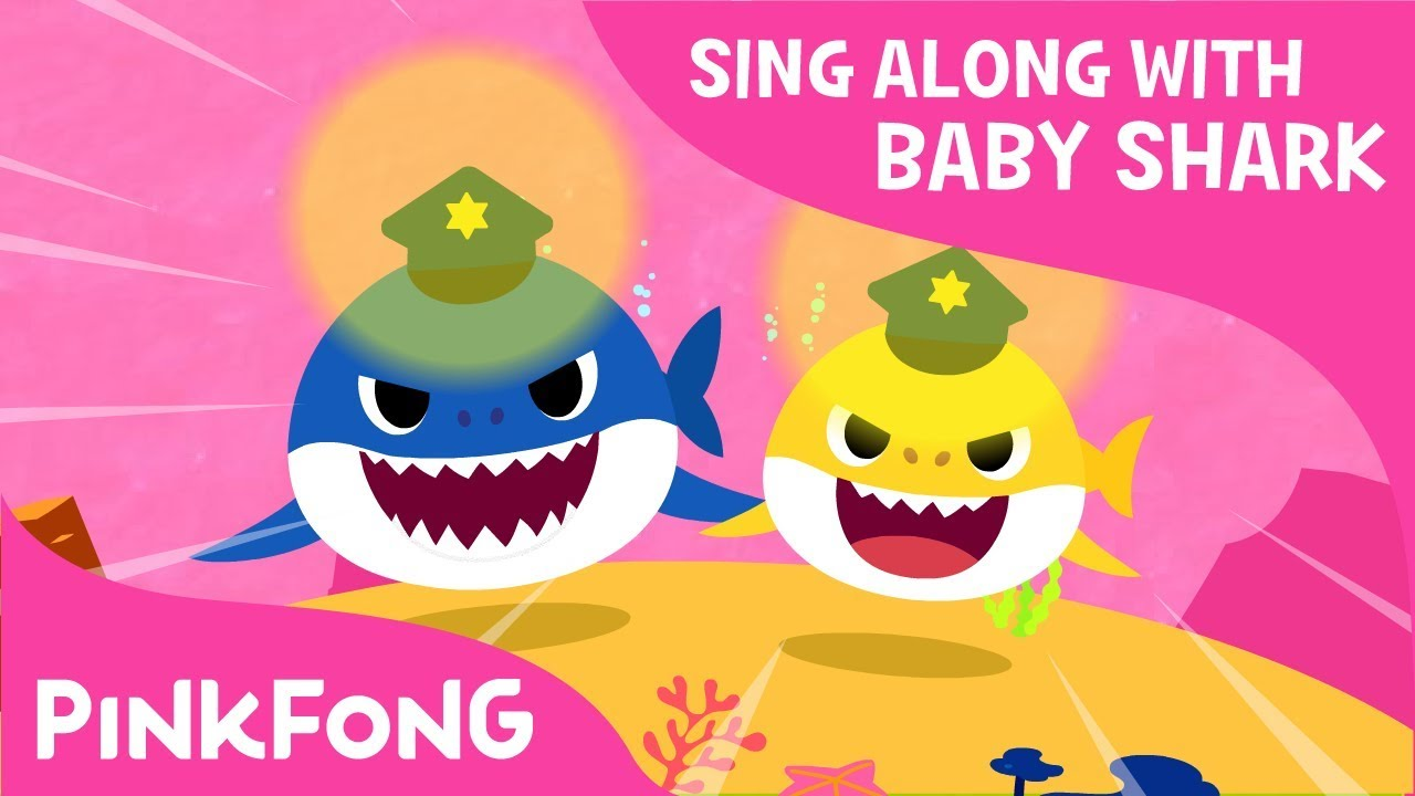 Police Sharks Sing Along With Baby Shark Pinkfong Songs For Children Youtube