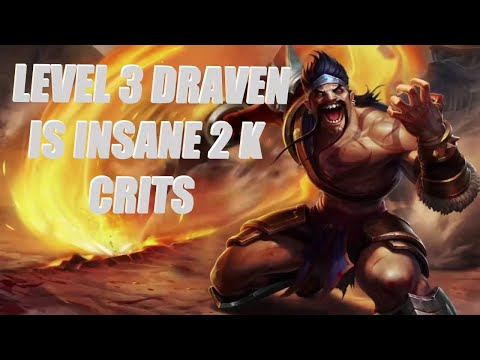 Team Fight Tactics [Episode 2] 2000 DMG CRIT LVL 3 DRAVEN!! LoL Auto Chess