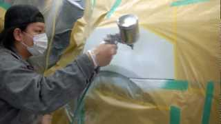 【その4】東京都 東大和市よりご来店 BMW 525iの板金・塗装・修理作業です。【板金塗装なら東京立川市のガレージローライド】 thumbnail