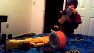 Kid go crazy with toy gun