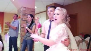 Подарок- розыгрыш Кате на свадьбу, танец с битой посудой