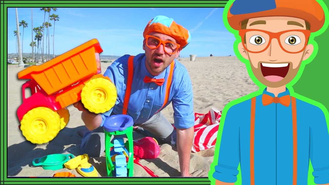 Blippi Videos For Kids Playing With Sand Toys And More