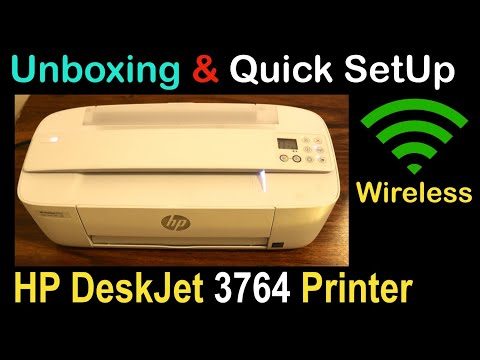 HP Deskjet 3764 SetUp, Quick Unboxing & review !!