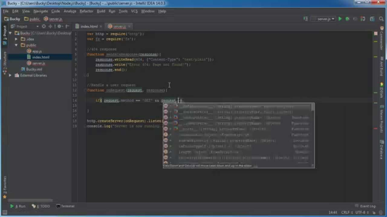 Node.js Tutorial for Beginners - 14 - Simple Web File Server