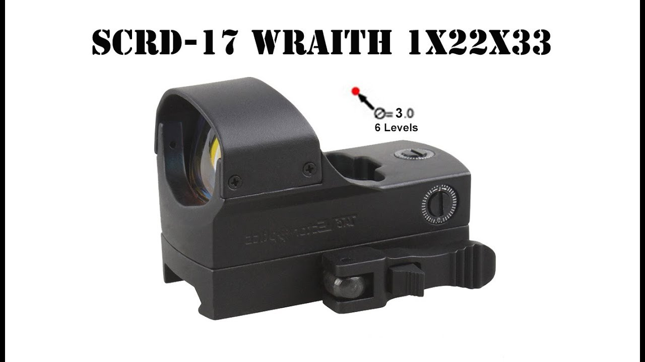 Vector Optics Wraith 3 Moa Relex Red Dot Sight Scope Supports Night