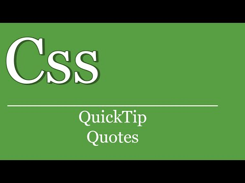 QuickTip #141 - CSS Tutorial - Quotes   HTML   Meta Charset UTF8   Style