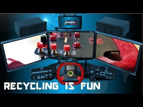 My Sim Cockpit - Moar Button Plate Mod - Recycling Is Fun