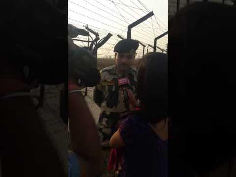 World news meets BSF janbaz sanjay roy at wagah border