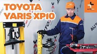 Hvordan bytte foran fjærer på TOYOTA YARIS XP10 BRUKSANVISNING | AUTODOC