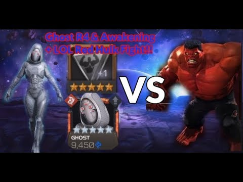 Ghost Rank 4 And Awakening + LOL Red Hulk Fight | Marvel Contest Of Champions