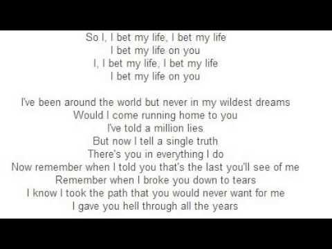 Imagine Dragons - I Bet My Life (Lyrics) - YouTube