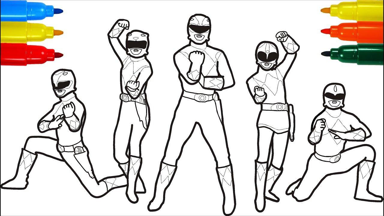 power rangers megaforce coloring pages # 33