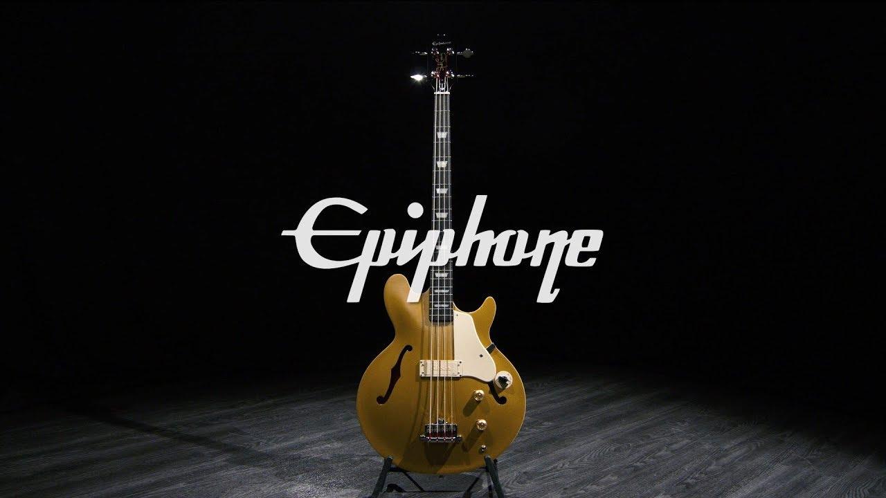 Epiphone Jack Casady Bass, Metallic Gold | Gear4music demo
