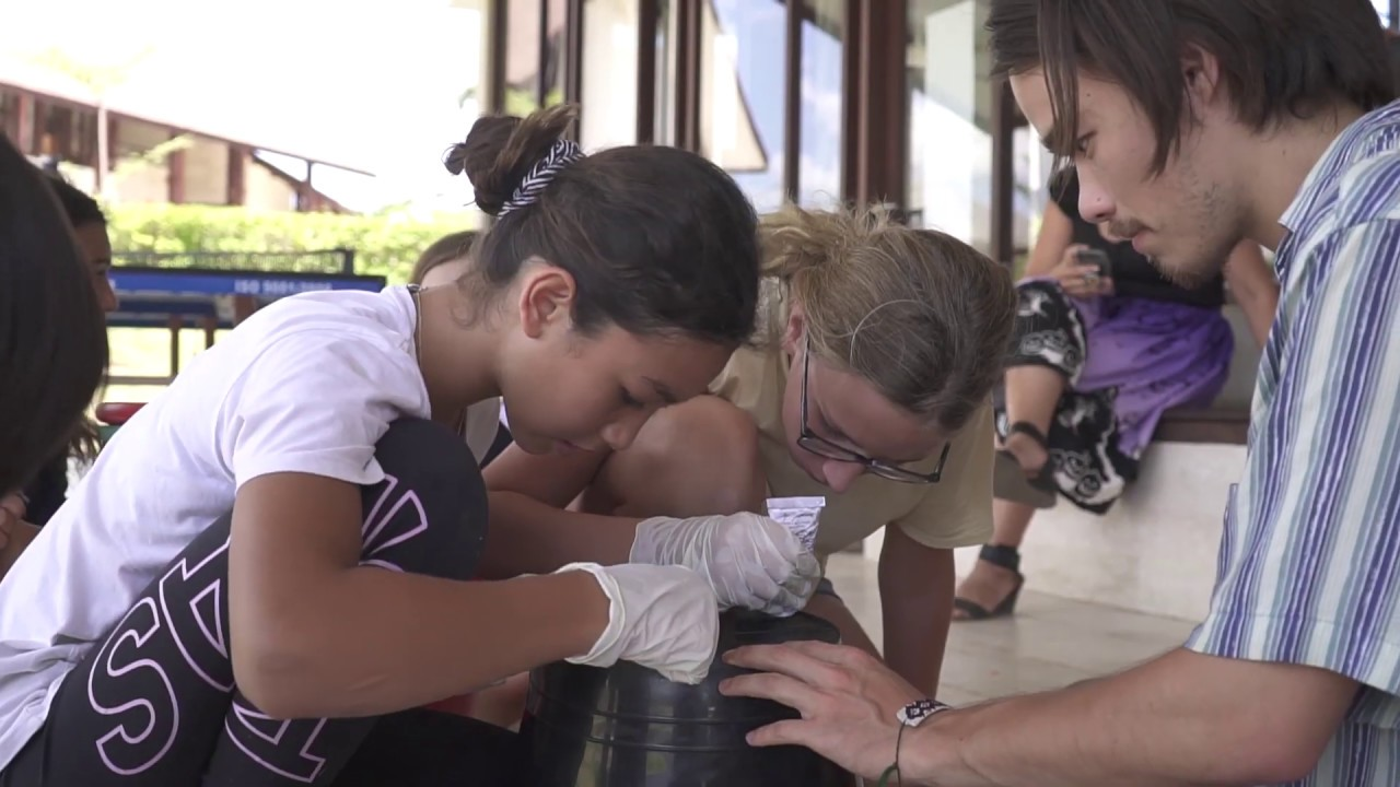 Science and Nature - Biogas Experiment with Montesorri School Bali