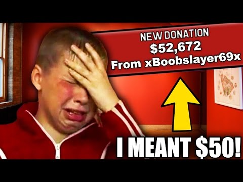 Thumbnail: Top 5 BIGGEST Accidental Twitch Donations! (Crazy Accidental Twitch Donations)