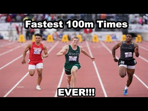 Top 5 Fastest High School 100 Meters Times Ever