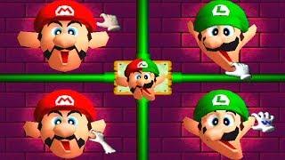 Mario Party 2 MiniGames - Mario vs Luigi vs Peach vs Wario