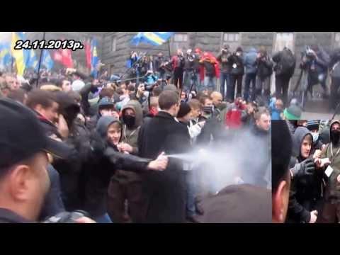 """""""Мирні демонстранти"""" б'ють ментів і в хвіст і в гриву"""