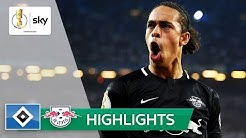 Leipzig erstmals im Pokalfinale | Hamburger SV - RB Leipzig 1:3 | Highlights - DFB-Pokal  2018/19